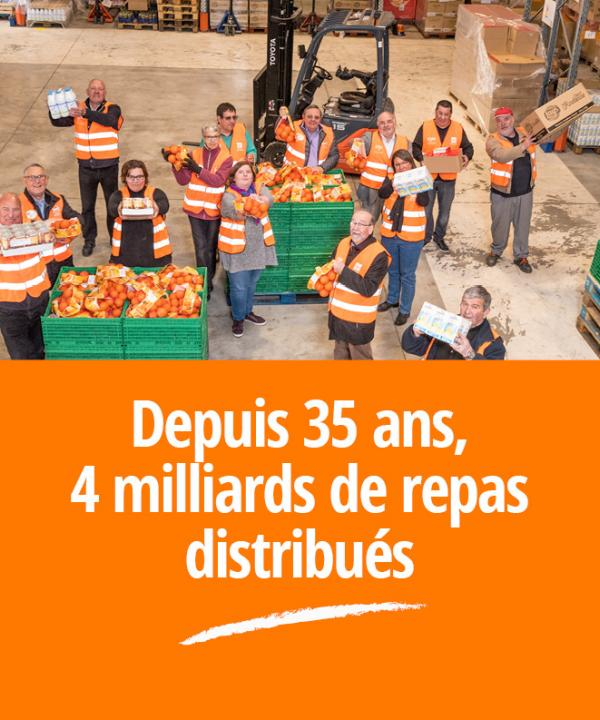 banques alimentaires page d'accueil mobile